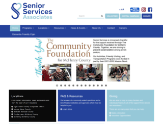 seniorservicesassoc.org screenshot
