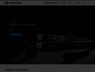 sennheiser.com.br screenshot