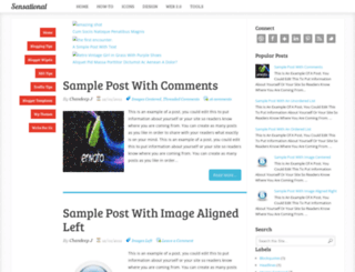 sensational-blogger-template.blogspot.in screenshot