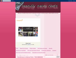 sensiblysavingcents.blogspot.com screenshot