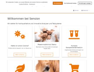 sension-gmbh.de screenshot