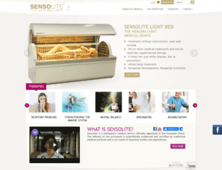 sensolite.hu screenshot