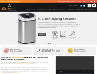 sensorbin.co.uk screenshot