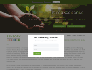 sensoryintelligence.co.za screenshot
