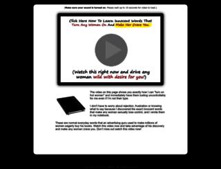 sensualpowerwords.com screenshot