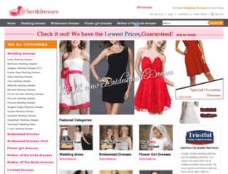 sentdress.com screenshot