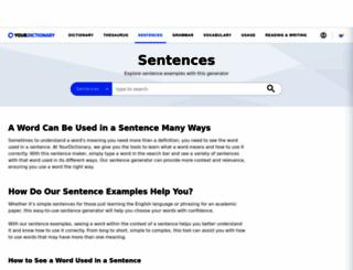 sentence.yourdictionary.com screenshot