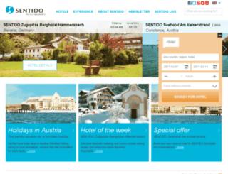 sentidohotels-egypt.com screenshot