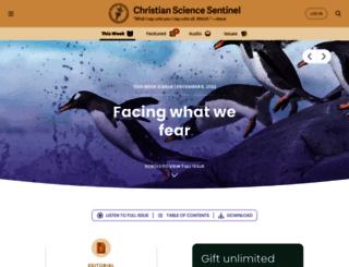 sentinel.christianscience.com screenshot