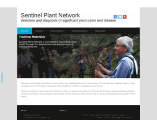 sentinelplantnetwork.org screenshot