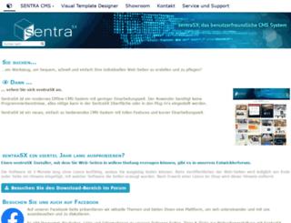 sentra-cms.de screenshot