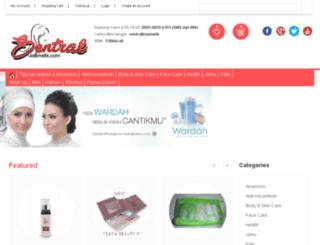sentralkosmetik.com screenshot