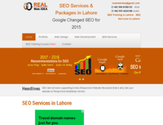 seo-services-in-lahore.realwebidea.com screenshot