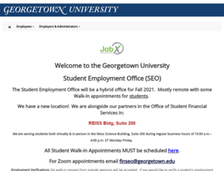 seo.georgetown.edu screenshot