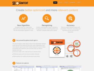 seocontextanalyzer.com screenshot