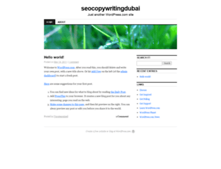 seocopywritingdubai.wordpress.com screenshot
