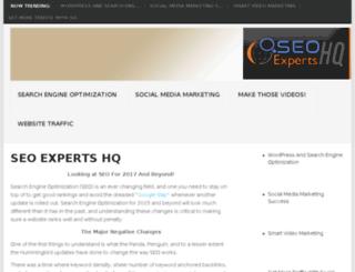 seoexpertshq.com screenshot