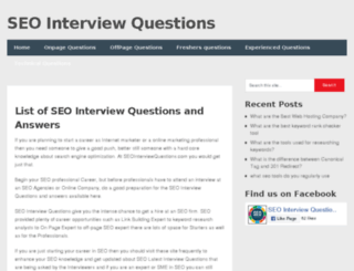 seointerviewquestions.com screenshot