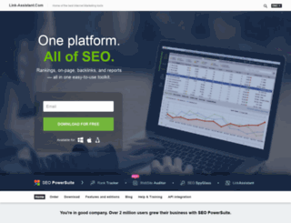 seopowersuite.com screenshot