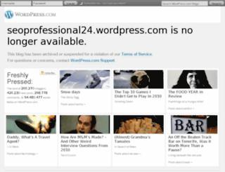 seoprofessional24.wordpress.com screenshot