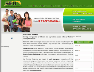 seotrainingacademy.com screenshot