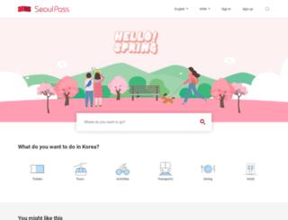 seoultravelpass.com screenshot