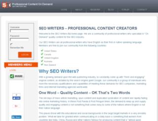 seowriters.biz screenshot