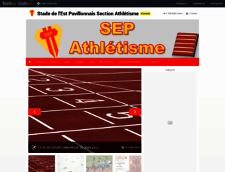 sep-athletisme.clubeo.com screenshot