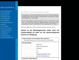 sepa-mandat.de screenshot