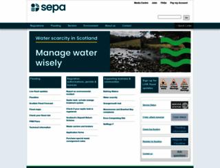 sepa.org.uk screenshot