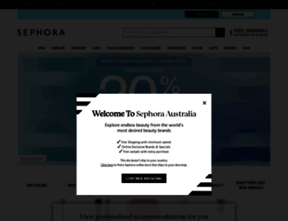 sephora.com.au screenshot