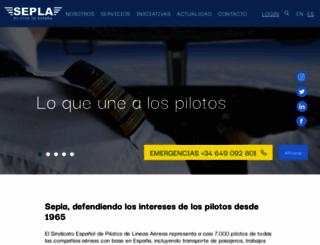 sepla.es screenshot