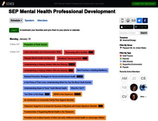 sepmentalhealthprofessional2016.sched.org screenshot