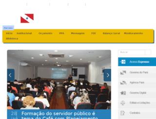 sepof.pa.gov.br screenshot