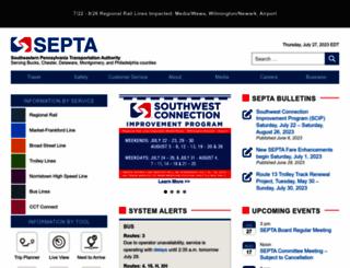 septa.org screenshot