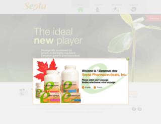 septapharmaceuticals.com screenshot
