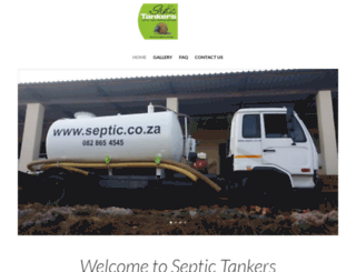 septic.co.za screenshot