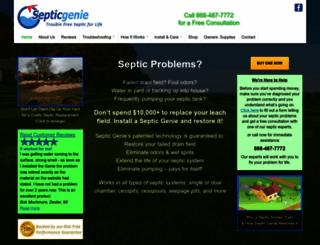 septicgenie.com screenshot