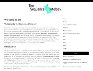 sequenceontology.org screenshot