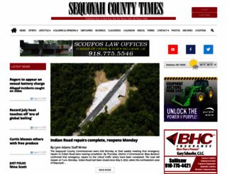sequoyahcountytimes.com screenshot