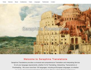 seraphinatranslations.com screenshot