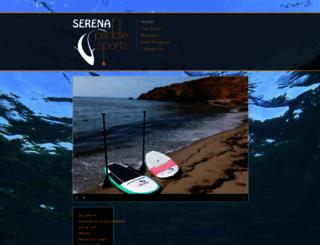 serenapaddlesports.com screenshot