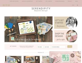 serendipitybeyonddesign.com screenshot