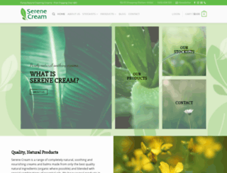 serenecream.com.au screenshot
