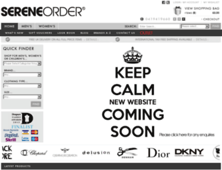 sereneorder.com screenshot