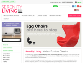 serenitylivingstores.com screenshot