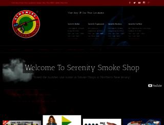 serenitysmokeshop.com screenshot
