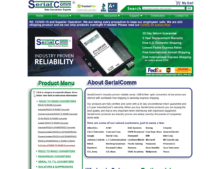 serialcomm.com screenshot