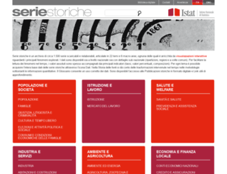 seriestoriche.istat.it screenshot