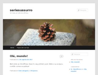 seriesussurro.com.br screenshot